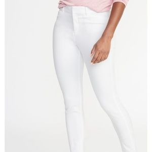 Old Navy White Mid-rise Pixie Ankle Pants New